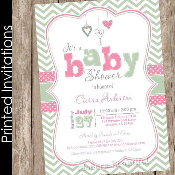valentines day baby shower invitation heart baby shower invitation, Baby shower invitations