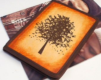 iPad & iPad Mini Leather Cover - Autumn Tree - Customizable - Free Personalization