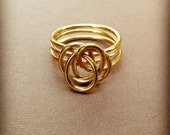 Medium Brass Twist Ring