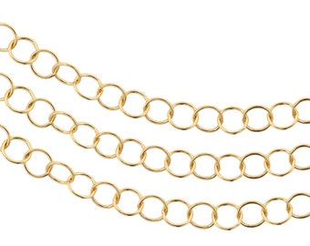 14Kt Gold Filled Circle chain 3.5mm Foot Chain - 5ft ( 2338-5) Bulk quantity Wholesale Price