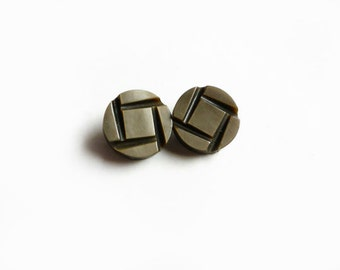 2 Vintage Buttons, Brown Buttons
