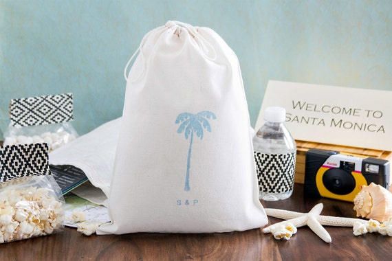 ... BagsOut Of Town Guest Welcome bagsTropical Wedding Favors8 x