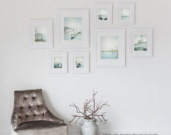 Paris Photography Collection, Dreamy Paris Decor, teal Paris Print Set, Eiffel Tower, Seine River - Fine Art Photographs with Textures