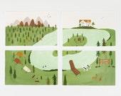 Forest Park Postcard Set 8pcs