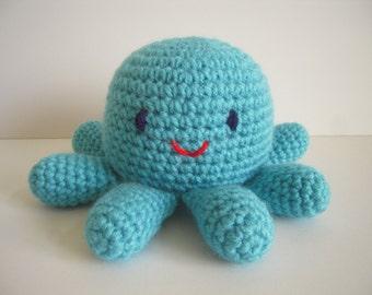 Crocheted Stuffed Amigurumi Octopus