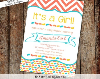 gender neutral baby shower invitation jelly bean diaper couples sip and see gender reveal evite chevron (item 1303) shabby chic invitations