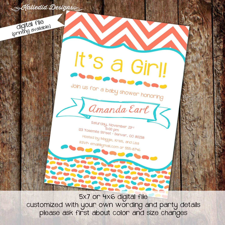 gender neutral baby shower invitation jelly bean diaper couples