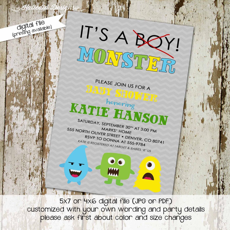 boy oh boy little monster 1st birthday monster baby shower ...