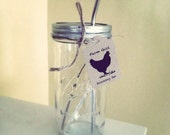 Mason Jar LID, Straw & Straw Cleaner Kit