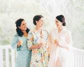 Three Bridesmaids Robes. Bridesmaid Robes. Robe. Bridal Robes. Kimono Robe. Wedding. Choose Your Fabrics. Assorted Prints. Knee Length.