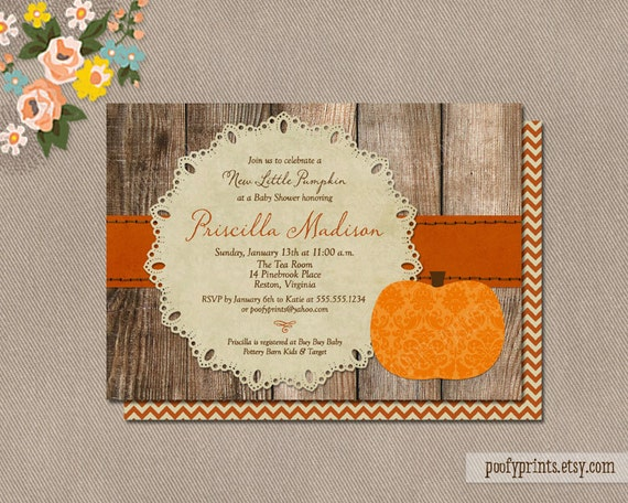 pumpkin baby shower invitations diy printable rustic autumn shower