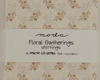 Floral Gatherings Shirting Charm Pack designed by Primitive Gatherings for Moda