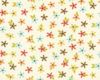 Wrens & Friends Cream Floral Sprigs designed by Gina Martin for Moda