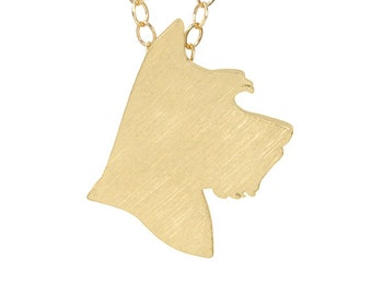 Schnauzer 40% OFF Discontinued Metal: Gold-Plated Silver, Schnauzer charm necklace, Schnauzer jewelry, pet memorial, dog jewelry, gift