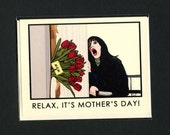 The SHINING MOTHER'S Day Card - The Shining - Funny Mother's Day Card - Funny Mom Card - Original Art - Here's Johnny - Shining Card