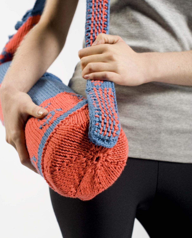 Knitting Pattern Yoga Mat Tote : Yoga Mat Bag Knitting Pattern by CraftStruck on Etsy