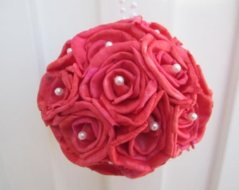 Sola rose flower ball - RED - Perfect for decorations or a flower girl