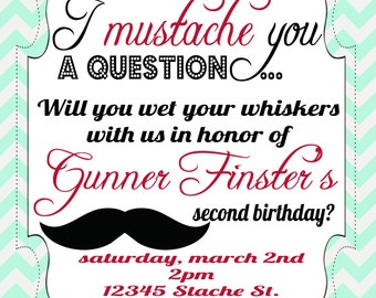 Wet Your Whiskers Printable Birthday invitation
