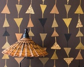 Geometric Large Triangle Wallpaper Allover Wall Stencil for Easy Stenciled DIY Decor