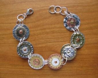 Mixed Metals Riveted Bracelet