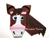 Horse Ribbon Sculpture Hair Clip
