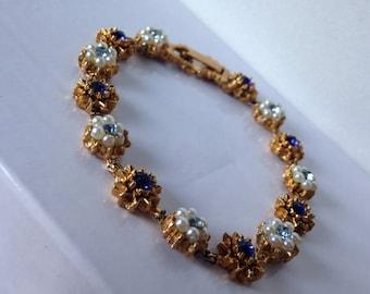 Gorgeous LJM signed victorian style bracelet