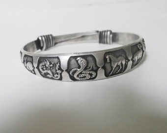 Tibetan Zodiac Adjustable Bracelet