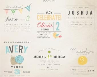 INSTANT DOWNLOAD - Birthday Words Overlays vol.1