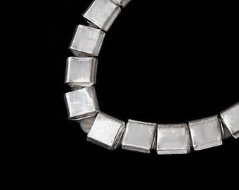 15 of Karen Hill Tribe Silver Cube Beads 3.5 mm . :ka3762