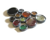 Soldered Glass Gems, Stained Glass Mosaic Tile, Colorful Glass Nuggets, Craft Supply, Art Supply
