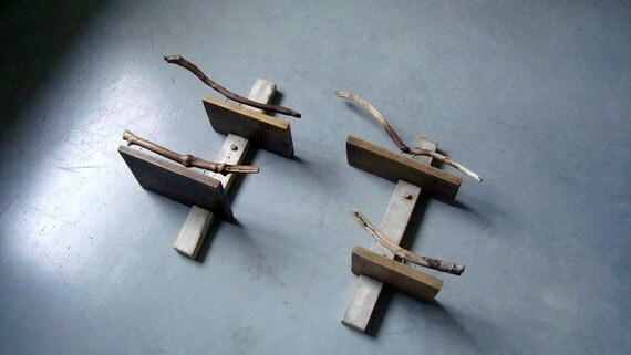 Branches Series - Recycled Wood Double Shelves 02