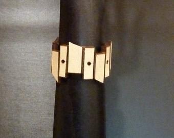 FENCED Cuff Cream Belt Leather