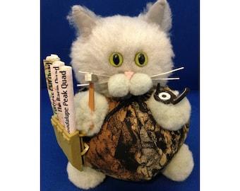 Micah Schist - Geologist Career Cat Purrsonality - Fiber Art Collectible 36