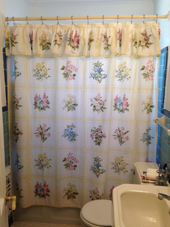 Tenda doccia Shabby Chic floreale volant