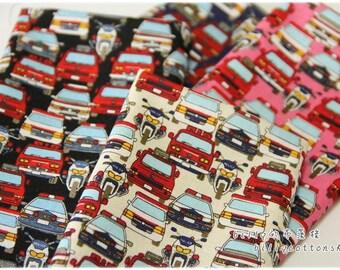 k709_55 - cars fabrics - cotton linen - Half Yard ( 4 color )