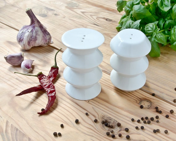 Salt and Pepper Shakers - White Porcelain Shakers