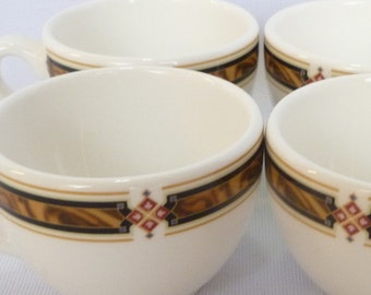 VINTAGE ESPRESSO CUPS/ Steelite/ English China/ Set of 4 cups (no saucers) 1 creamer