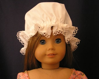 Colonial Cotton Muslin Mob Cap for AG Doll