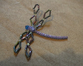 Beadwork Dragonfly Ornament
