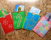 In The Hoop Christmas Felt Gift Card Holder Embroidery machine Design Set