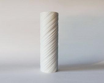 Vintage Tall Spiral Vase - Hutschenreuther Gugel 60s - Rare