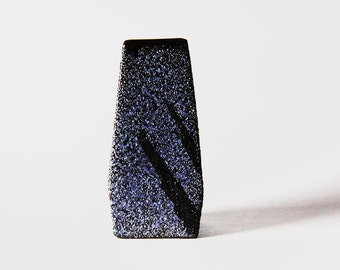 Vintage Dutch Blue Lava Vase -  Afina Rijnsburg 60s (2)