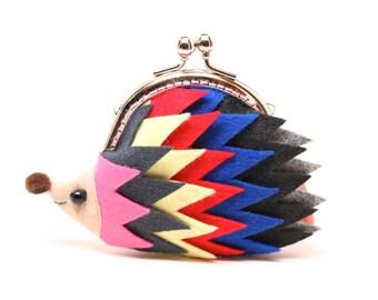 """Color palette hedgehog clutch purse """"Unity"""""""