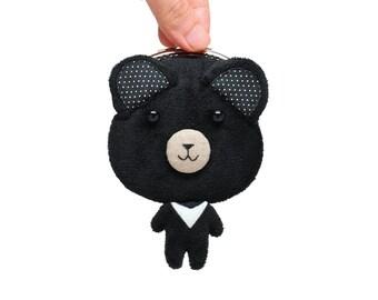 Formosan black bear clutch purse