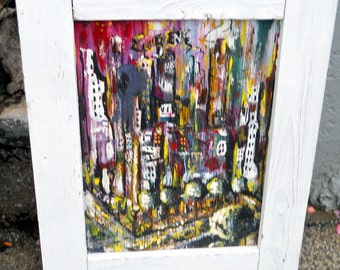 An Abstract Painting of a Corner of a Block in the City of Eugene, Oregon