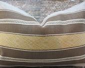 3BM Designer Pillow Cover Lumbar, 16 x 16, 18 x 18, 20 x 20, 22 x 22 - TF Greek Key Stripe