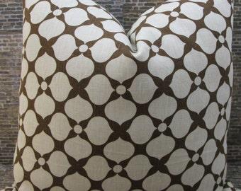 3BM Designer Pillow Cover - Lumbar, 18 x 18, 20 x 20 - Jonathan Adler Santa Rose Brown