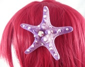Purple Starfish Hairclip - Little Mermaid Hairclip Mermaid  Costume Mermaid Cosplay Natural Starfish Ursulla Costume