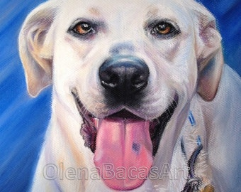 "Custom Pet Dog Portrait 11""x14"" by Olena Baca- Christmas Gift- Gift for Dad- Gift for Mom- Gift ideas- Birthday Gift"