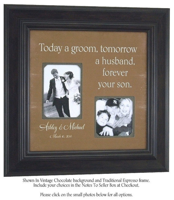 Wedding Gift Ideas For A Groom : ... Groom Mother, Mother of The Groom Wedding Picture Frame Gift Sign
